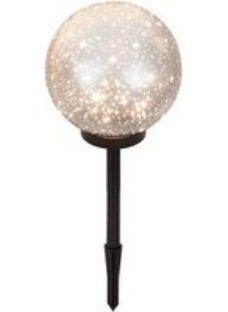 Blooma Penia Glitter effect LED Outdoor Ball light (D)200mm
