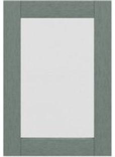 GoodHome Alpinia Matt Green Painted Wood Effect Shaker Glazed Cabinet door (W)500mm (T)18mm