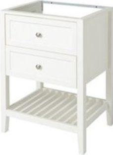 GoodHome Perma Satin White Freestanding Bathroom Vanity Cabinet (W)600mm (H)806mm