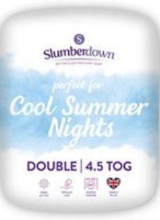 Slumberdown 4.5 tog Summer Cool Double Duvet