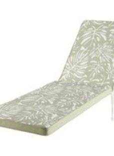 Tiga Floral Kaki green tea leaf Sunlounger cushion