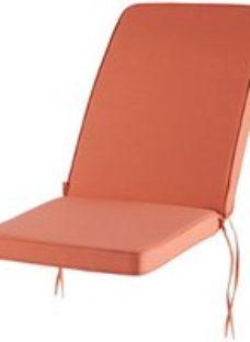 Tiga Plain colour Mango red High back seat cushion