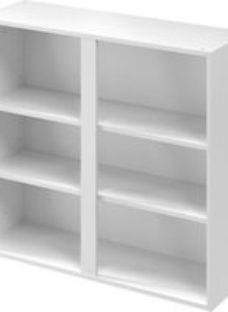 GoodHome Caraway Matt White Tall Wall cabinet  (W)1000mm