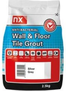 NX Anti-bacterial Fine textured Silver grey Tile Grout  2.5kg