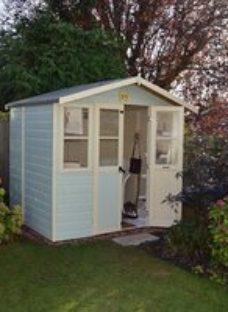 Shire Haddon 7x5 Apex Shiplap Wooden Summer house