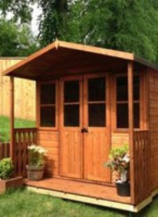 Shire Houghton 7x5 Apex Shiplap Wooden Summer house
