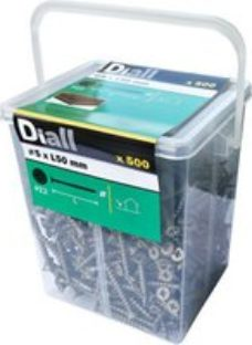 Diall Carbon steel Screw (Dia)5mm (L)50mm  Pack of 500