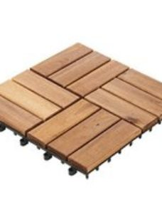 Blooma Lempa Brown Acacia Clippable deck tile (L)0.3m (W)300mm (T)24mm  Pack of 4