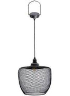 Blooma Koyaka Black Solar-powered Integrated LED Outdoor Pendant lamp